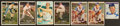 Autographs:Sports Cards, Baseball Greats Signed Card Lot (7)....