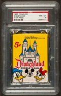 "Non-Sport Cards:Unopened Packs/Display Boxes, 1965 Donruss ""Disneyland"" Unopened Wax Pack PSA NM-MT 8. ..."