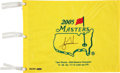 Golf Collectibles:Autographs, 2005 Tiger Woods Signed UDA Masters Flag....