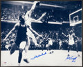 Basketball Collectibles:Photos, John Havlicek and Bill Russell Signed Oversized Photograph, PSA GemMint 10....