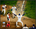 Baseball Collectibles:Photos, 1986 New York Mets Team Signed Oversized Photograph - World Championship Season! ...