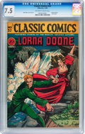 Golden Age (1938-1955):Classics Illustrated, Classic Comics #32 Lorna Doone - First edition (Gilberton, 1946) CGC VF- 7.5 Off-white to white pages....