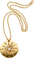 Estate Jewelry:Necklaces, Diamond, Colored Diamond, Gold Pendant-Necklace, De Beers. ...