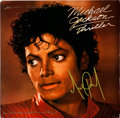 "Music Memorabilia:Autographs and Signed Items, Michael Jackson Signed ""Thriller"" 12"" Dance Single (Epic 04961,1984)...."