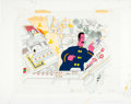 Music Memorabilia:Original Art, Beatles Yellow Submarine Young Fred Animation Cel andBackground Original Art (United Artists/King Features, 1968)...(Total: 2 Items)