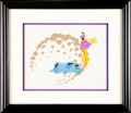 Music Memorabilia:Original Art, Beatles Yellow Submarine John Animation Cel Set-Up Original Art(United Artists/King Features, 1968)....