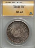 Mexico, Mexico: Republic Peso 1902 Mo-AM,...