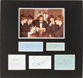 Music Memorabilia:Autographs and Signed Items, Beatles and Brian Epstein Autograph Display....