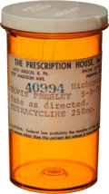 Music Memorabilia:Props, An Elvis Presley Prescription Bottle, 1974....