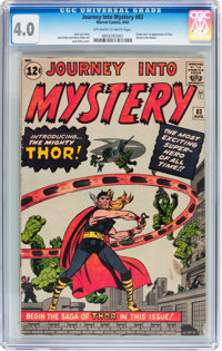 Journey Into Mystery #83 (Marvel, 1962) CGC VG 4.0 Off-white to white pages
