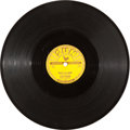 "Music Memorabilia:Recordings, Elvis Presley ""That's All Right""/ ""Blue Moon of Kentucky"" 78 (Sun209, 1954). ..."