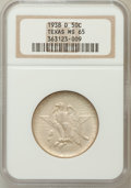 Commemorative Silver: , 1938-D 50C Texas MS65 NGC. NGC Census: (266/388). PCGS Population(468/347). Mintage: 3,775. Numismedia Wsl. Price for prob...