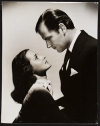 """Brenda Marshall and Joel McCrea in Espionage Agent by George Hurrell (Warner Brothers, 1939). Portrait Photo (10.5""""..."""