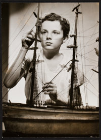 "Freddie Bartholomew in Captains Courageous (MGM, 1937). Portrait Photo (8.75"" X 12.25""). Adventure"