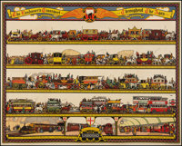 "The Londoner's Transport Throughout the Ages (John Waddington LTD, 1928). Poster (40"" X 60""). Miscellaneous..."