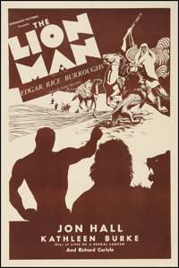 "The Lion Man (Normandy Pictures, R-Late 1930s). One Sheet (28"" X 42""). Adventure"