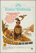 "Movie Posters:Adventure, Tarzan and the Great River (Paramount, R-1974). Autographed OneSheet (27"" X 41""). Adventure.. ..."