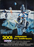 "Movie Posters:Science Fiction, 2001: A Space Odyssey (MGM, 1968). German A1 (24"" X 33""). Science Fiction.. ..."