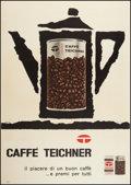 "Movie Posters:Miscellaneous, Caffe Teichner (Circa 1960). French Advertising Poster (38.5"" X54.75""). Advertising.. ..."