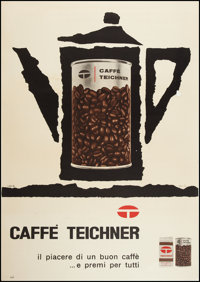 """Caffe Teichner (Circa 1960). French Advertising Poster (38.5"""" X 54.75""""). Advertising"""