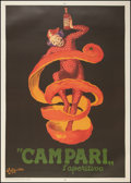 "Movie Posters:Miscellaneous, Campari l'aperitivo (Orange Peel) (1970). Italian Advertising Poster (38.5"" X 55""). Miscellaneous.. ..."