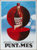 "Movie Posters:Miscellaneous, Punt e Mes (Testa, 1978). Italian Advertising Poster (39"" X 54"").Miscellaneous.. ..."
