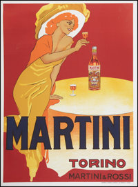 "Martini and Rossi (Tipografia Teatrale Torinese, 1970s). French Advertising Poster (40.5"" X 55""). Miscellaneou..."