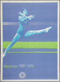 "Movie Posters:Sports, Munich Summer Olympics Games (Olympics, 1972). Poster (33"" X 46.5""). Sports.. ..."