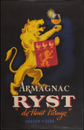 """Movie Posters:Miscellaneous, Armagnac Ryst Advertisement (Ryst, 1945). French Grande (38.5"""" X 60""""). Miscellaneous.. ..."""