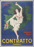 "Movie Posters:Miscellaneous, Contratto Vermouth (Contratto, 1925). Advertising Poster (40"" X 54.5""). Miscellaneous.. ..."