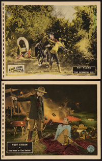 "The Man in the Saddle and Other Lot (Universal, 1926). Lobby Cards (2) (11"" X 14""). Western. ... (Total: 2 Ite..."