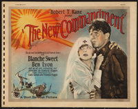 """The New Commandment (First National, 1925). Title Lobby Card (11"""" X 14""""). Drama"""