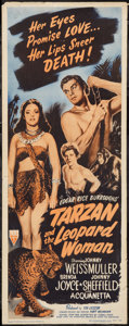 "Movie Posters:Adventure, Tarzan and the Leopard Woman (RKO, R-1950). Insert (14"" X 36"").Adventure.. ..."