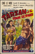 "Movie Posters:Adventure, Tarzan and the Leopard Woman (RKO, 1946). Belgian (14"" X 21.5"").Adventure.. ..."