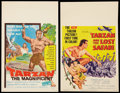 "Movie Posters:Adventure, Tarzan and the Lost Safari & Other Lot (MGM, 1957). WindowCards (2) (14"" X 22""). Adventure.. ... (Total: 2 Items)"