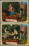 "Movie Posters:Adventure, Tarzan and the Huntress (RKO, 1947). Lobby Cards (2) (11"" X 14"").Adventure.. ... (Total: 2 Items)"