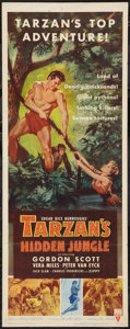 "Movie Posters:Adventure, Tarzan's Hidden Jungle (RKO, 1955). Insert (14"" X 36""). Adventure....."