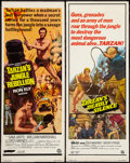 "Movie Posters:Adventure, Tarzan's Jungle Rebellion & Other Lot (Banner Productions,Inc., 1967). Inserts (2) (14"" X 36""). Adventure.. ... (Total: 2Items)"