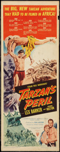 "Movie Posters:Adventure, Tarzan's Peril (RKO, 1951). Insert (14"" X 36""). Adventure.. ..."