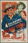 """Movie Posters:Western, Melody Trail (Republic, R-1940s). One Sheet (27"""" X 41""""). Western....."""