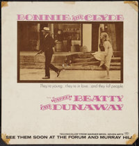 """Bonnie and Clyde (Warner Brothers-Seven Arts, 1967). Bus Card (21"""" X 22""""). Advance. Crime"""