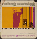 "Movie Posters:Crime, Bullitt (Warner Brothers, 1968). Bus Card (21"" X 22""). Advance. Crime.. ..."
