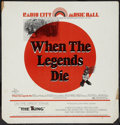 "Movie Posters:Western, When the Legends Die (20th Century Fox, 1972). Bus Card (21"" X22""). Western.. ..."