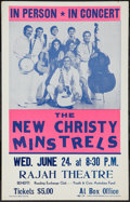 "Movie Posters:Rock and Roll, New Christy Minstrels (Reading Exchange Club, June 1970). ConcertPoster (14"" X 22""). Rock and Roll.. ..."
