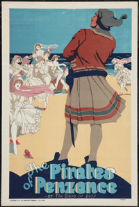 """The Pirates of Penzance (Stafford & Co. Ltd., 1910s-1930s). Play Poster (20"""" X 30""""). Musical"""