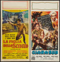 "Movie Posters:Adventure, Desert Sands & Other Lot (United Artists, 1955). ItalianLocandinas (2) (13"" X 27""). Adventure.. ... (Total: 2 Items)"