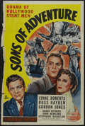 "Movie Posters:Adventure, Sons of Adventure (Republic, 1948). One Sheet (27"" X 41""). Western.Starring Lynne Roberts, Russell Hayden, Gordon Jones Gra..."