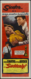 "Movie Posters:Crime, Suddenly (United Artists, 1954). Insert (14"" X 36""). Crime.Starring Frank Sinatra, Sterling Hayden, James Gleason and Nancy..."