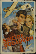 """Movie Posters:War, Suicide Squadron (Republic, 1941). One Sheet (27"""" X 41""""). War.Starring Anton Walbrook, Sally Gray, Derrick De Marney and Ce..."""