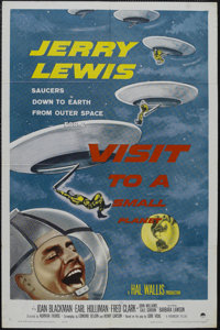 """Visit to a Small Planet (Paramount, 1960). One Sheet (27"""" X 41""""). Comedy. Starring Jerry Lewis, Joan Blackman..."""